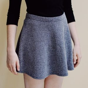 Abercrombie & Fitch Heather Gray Skater Skirt